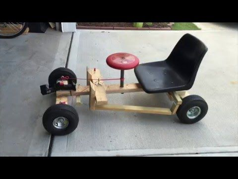 How to make a wooden Go Kart with bike wheels - YouTube
