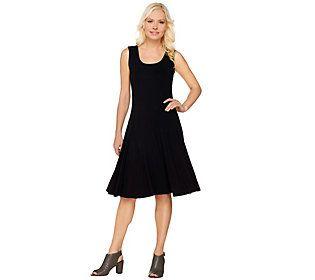 Susan Graver Dolce Knit Sleeveless Dress