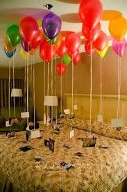 Resultado de imagen para ideas decorar cuarto cumpleaños esposo