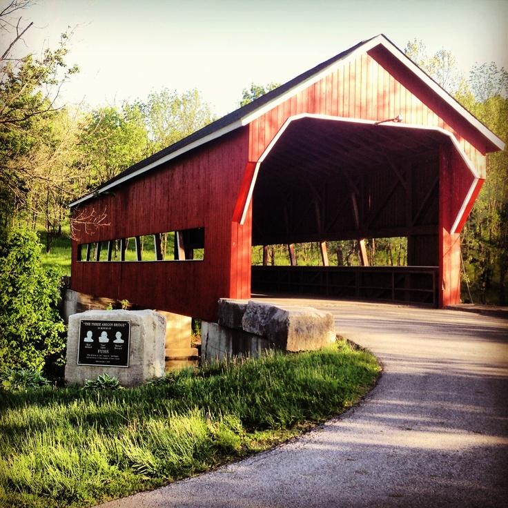 Covered bridge in Paoli, Indiana. ©Ashley Rae Photography.