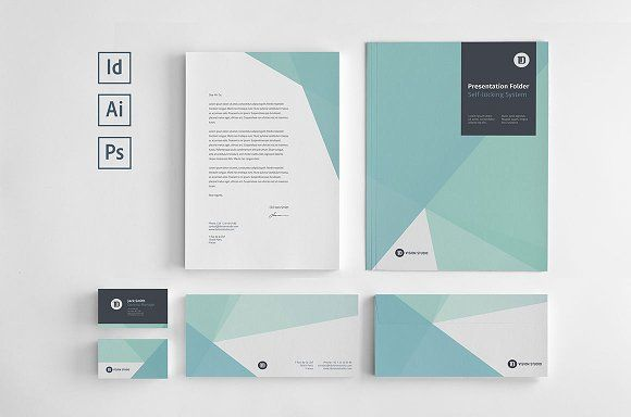 Stationery Corporate Identity 005 by ID Vision Studio on @creativemarket