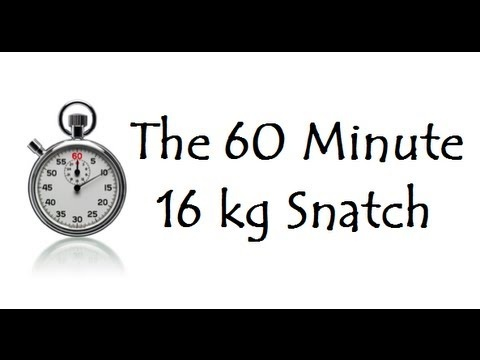 60 Minutes, 16 kg's, 1,195 Snatches.