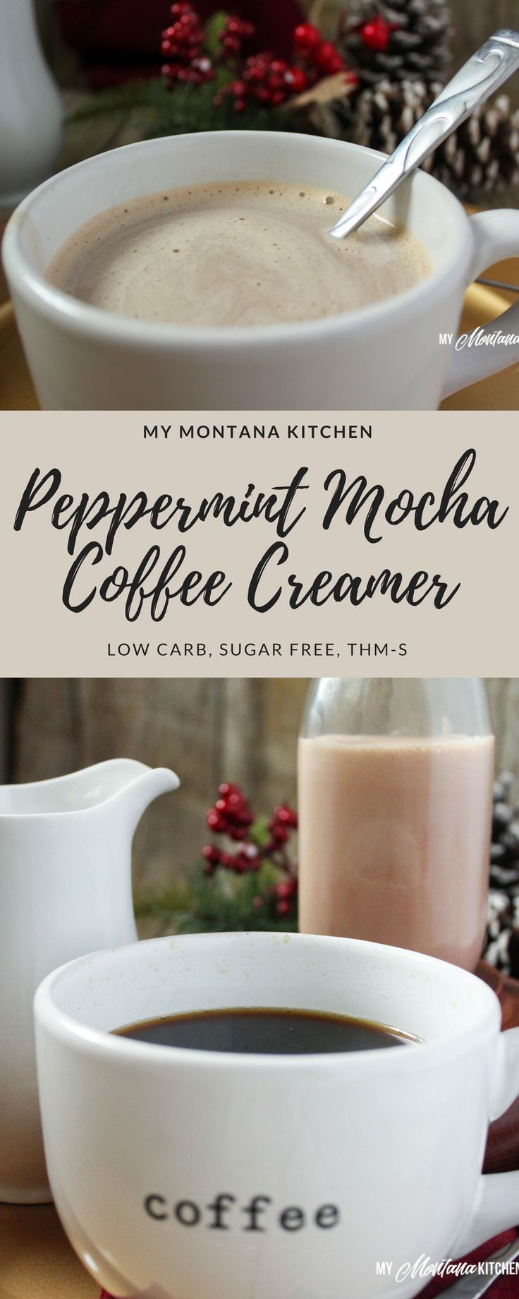 Peppermint Mocha Coffee Creamer (Low Carb, Sugar F…