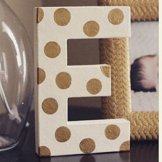 You and your little arrow will love these polka dot painted letters. Custom colored to any room color these letters will add that special touch to