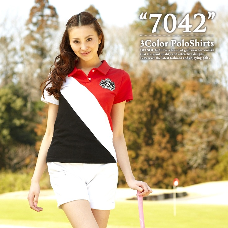 Tricot color polo shirt for golf
