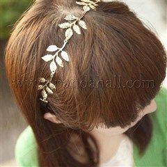 Nuevo diseño elásticas hojas de aleación de rama de olivo romántica vendas de los accesorios para el cabelloOHAR-R150-01