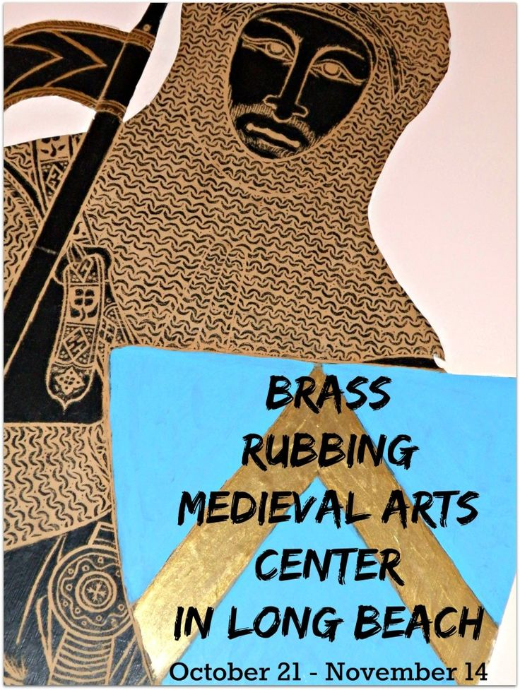 Are you a fan of the Middle Ages? Does your little knight and shining armor like to slay dragons? Or does your little lady in waiting enjoy playing dress up? Then the annual Brass Rubbing Event taking place on October 21 – November 14 at St. Luke's Episcopal Church in Long Beach is just for you! Cost ranges $5-$15 depending upon the size of rubbing. They also offer an official tea program.