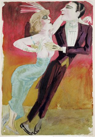 Otto Dix, Modern Dancers, 1922 - German - started the movement called The New Objectivity.  This was stilled considered Degenerate work under the Nazis.