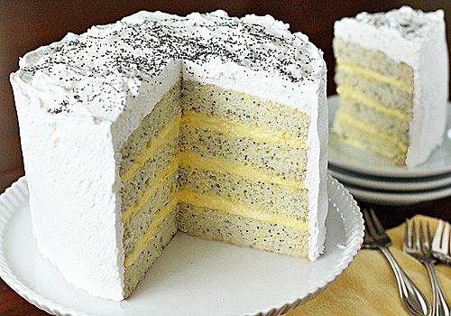 Lemon Poppy Seed Lady Cake.    I want to make this now >:O