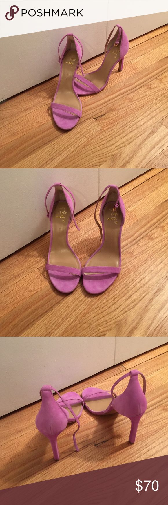 """Banana Republic purple strappy heels Gorgeous 4"""" heeled sandals with an ankle strap. In a fun and vibrant light purple color. Like new! Banana Republic Shoes Heels"""