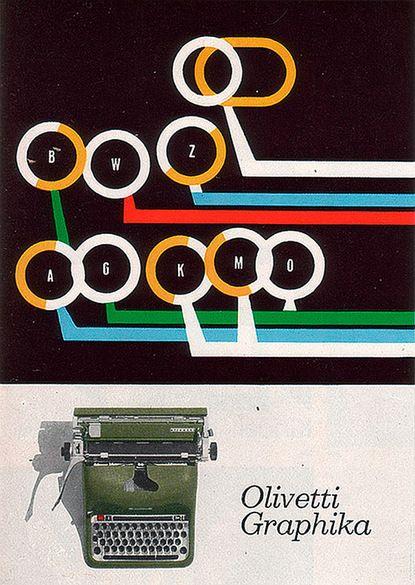 Giovanni Pintori for the Olivetti Graphika - 1959