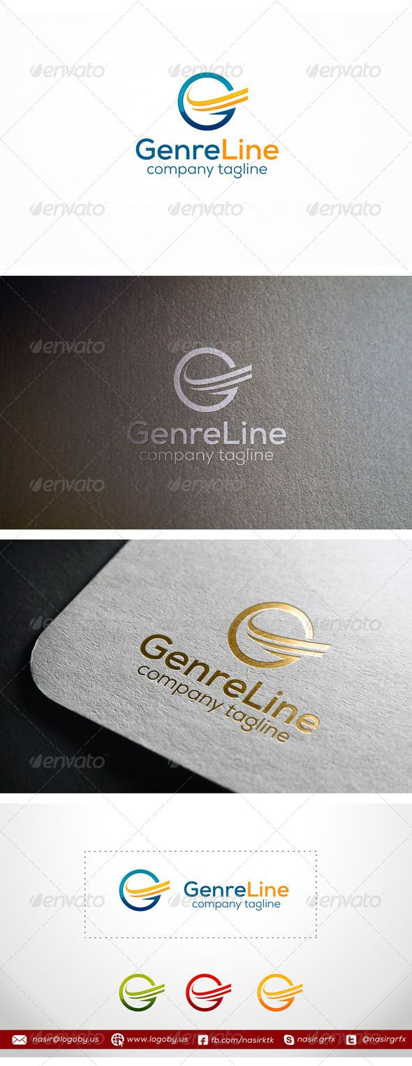 Genre Lines Letter G — Vector EPS #identity #abstract • Available here → g...