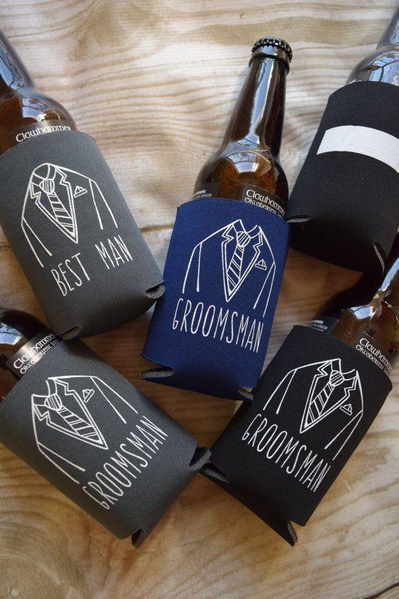 Groomsmen Wedding Favors, Can Cooler Gifts, Groomsman Gift, Beverage Insulators, Wedding Party Gifts