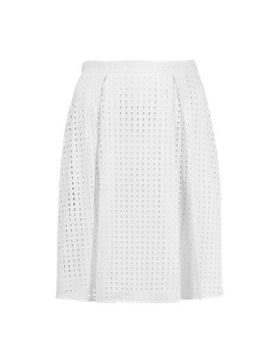 Pure Cotton Broderie A-Line Skirt | M&S