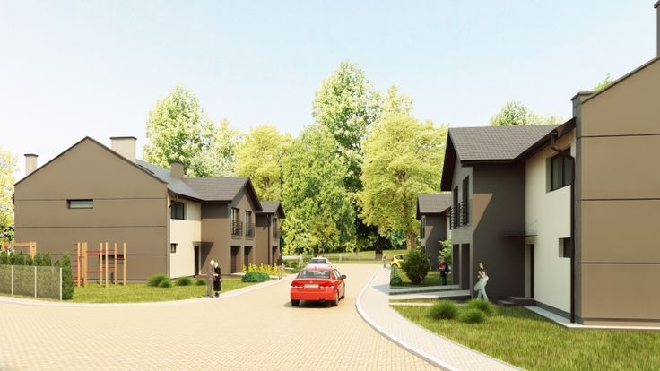 Small housing estate #vizualization. Feel free to ask for our #3d service. #render