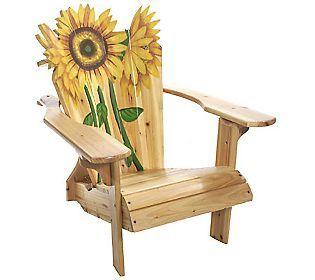 Blooming Sunflower Adirondack Chair-LOVE it!!
