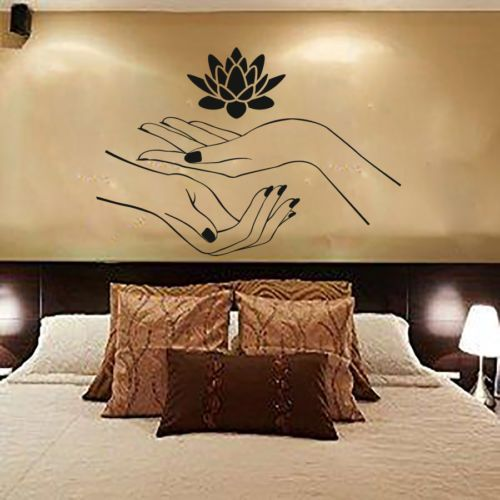 Wall decal beauty salon woman vinyl sticker home decor for 3 fifty eight salon