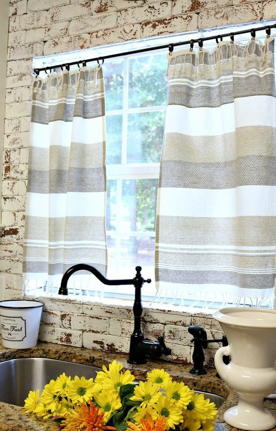 Dish towel curtains are all the rage around here! Actually the minute we moved in to the Alabama Farmhouse, I knew what I wanted to do at the kitchen window, make curtains from dishtowels! Along with collecting dishes, power tools and so much more, I have a big collection of cute dish towels. This is …
