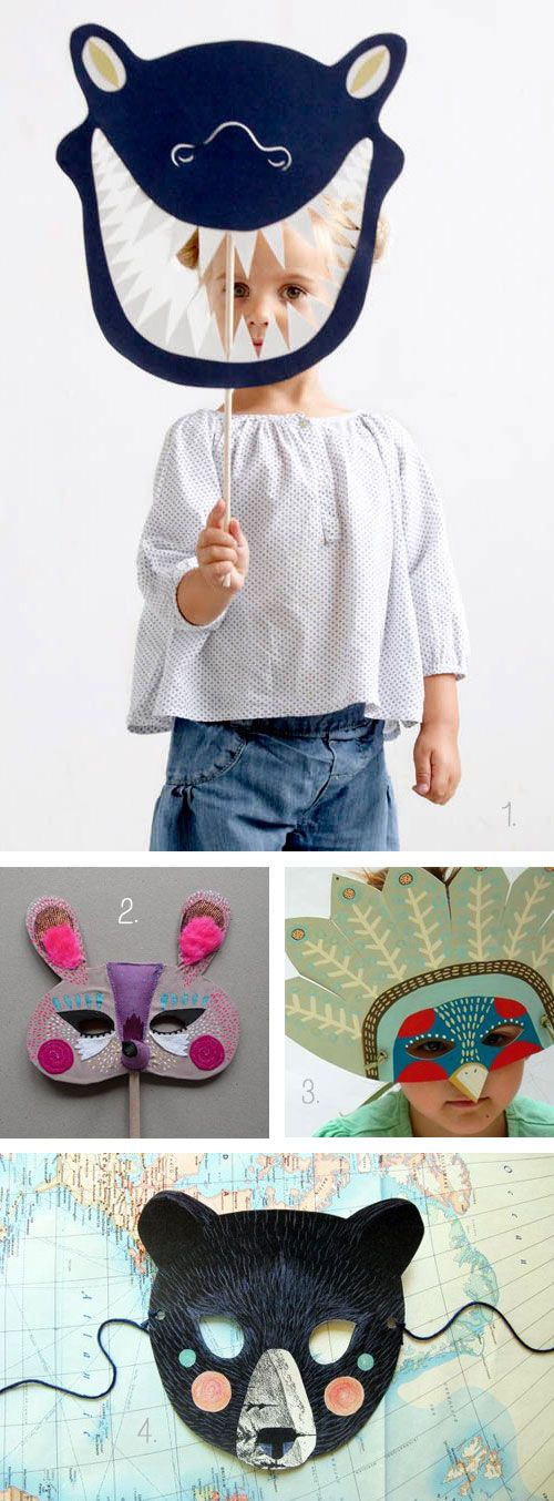 I like costumes and face masks for kids so here are a few favorite ones.