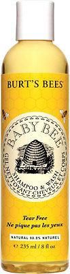 Burts Bees Baby Bee Tear Free Shampoo and Wash What you get: 1 x 235ml bottle 98.9% natural Tear free Safe and effective Pediatrician tested Hypo-allergenic BUA