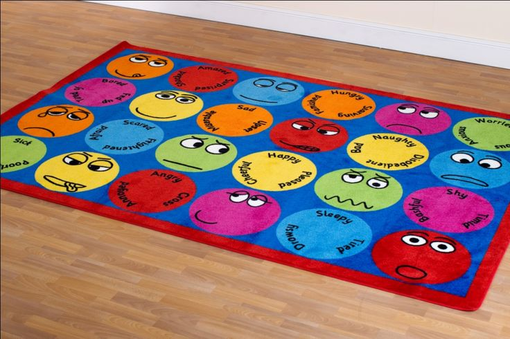 Playtherapy Office Emotions Carpet Rectangular Play