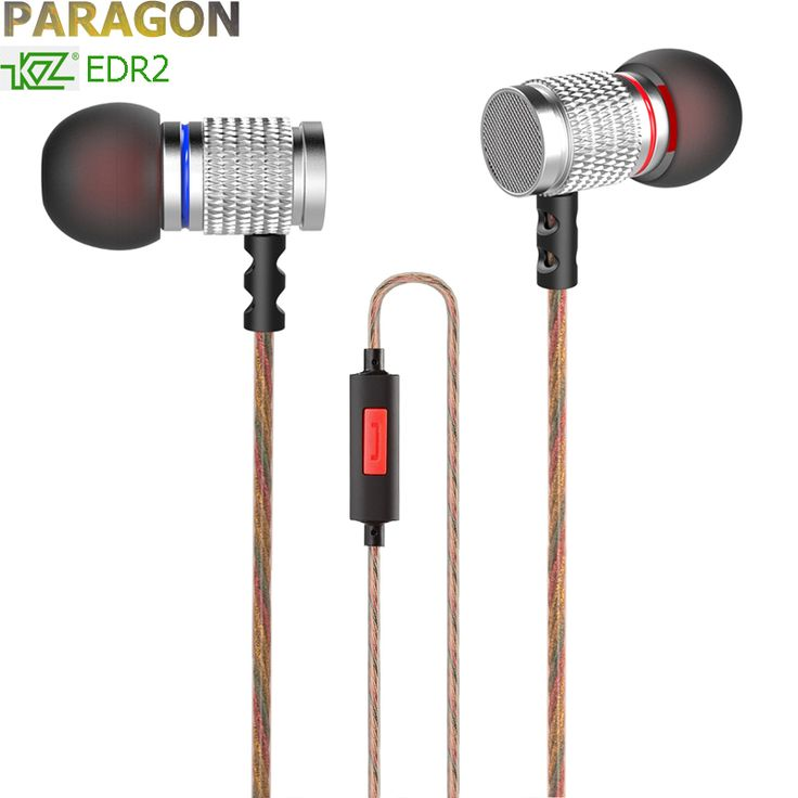 PARAGON 100% KZ EDR2 NEW metal earphone mobile MP3 HIFI fever magic sound in-ear headphones earplugs for samsung android xiaomi