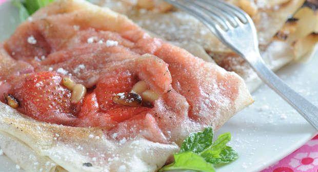 Bricks aux fraises et aux pignonsVoir la recette des Bricks aux fraises et aux…