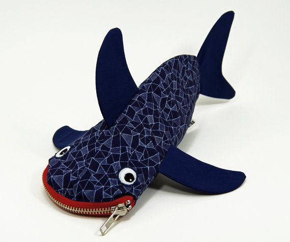 Geometric Shark by MinneBites / Handmade Shark di minnebites