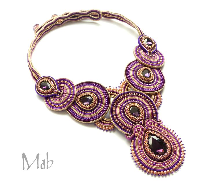 soutache necklace - Mab Magdalena Bielska