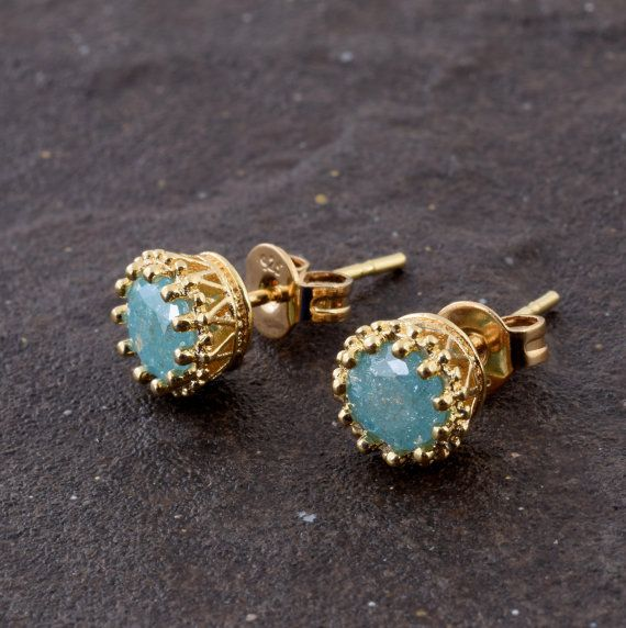 Stud Opal zirconia Earrings, Petite Gold Filled #jewelry #earrings @EtsyMktgTool http://etsy.me/2i7IYSZ