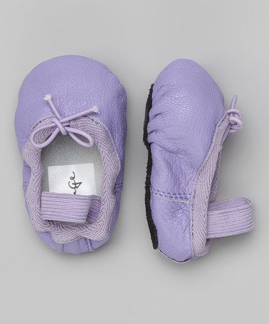Love this Purple Bow Leather Ballet Shoe by Linge Shoes on #zulily! #zulilyfinds