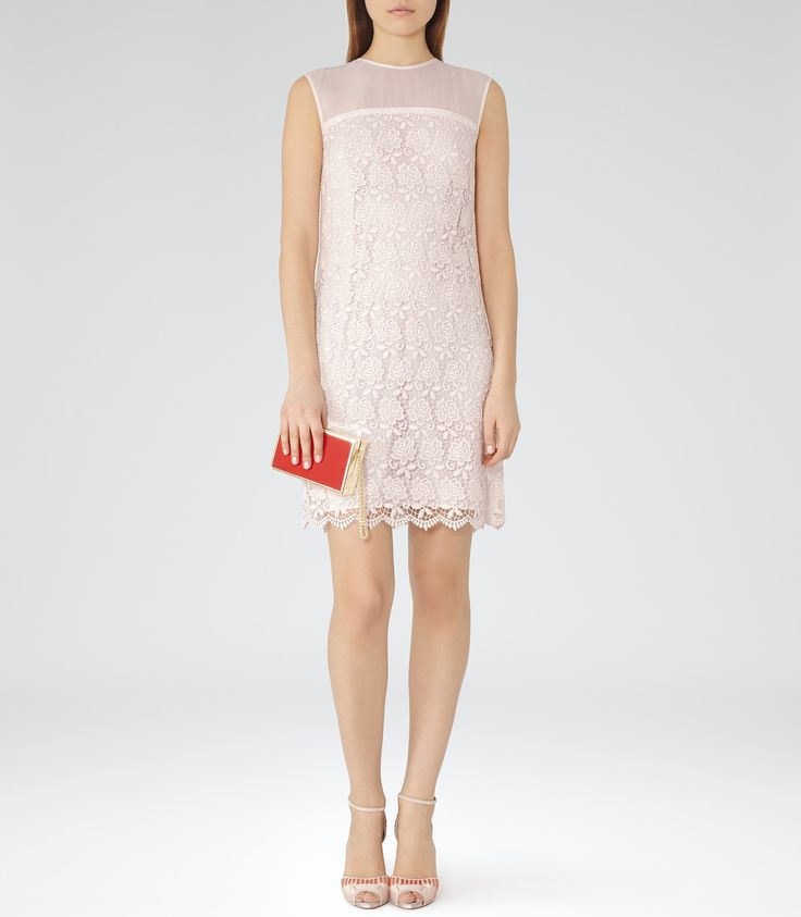 Sleeveless Lace Dress - Reiss Shanford