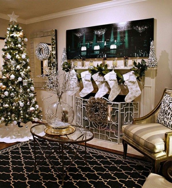 Christmas Decorations Ideas 2014 14 best black and silver christmas room images on pinterest