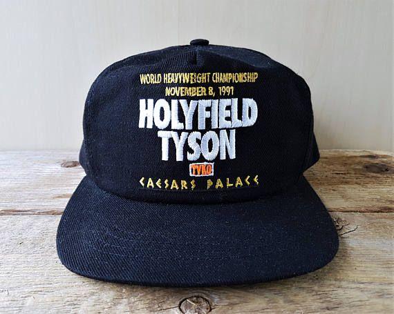 HOLYFIELD vs TYSON Vintage 1991 Promo Snapback Hat Boxing