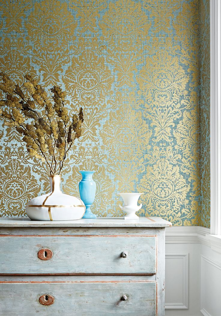 Thibaut Wallpaper- Kingsbury Damask from Natural Resource 2 Collection