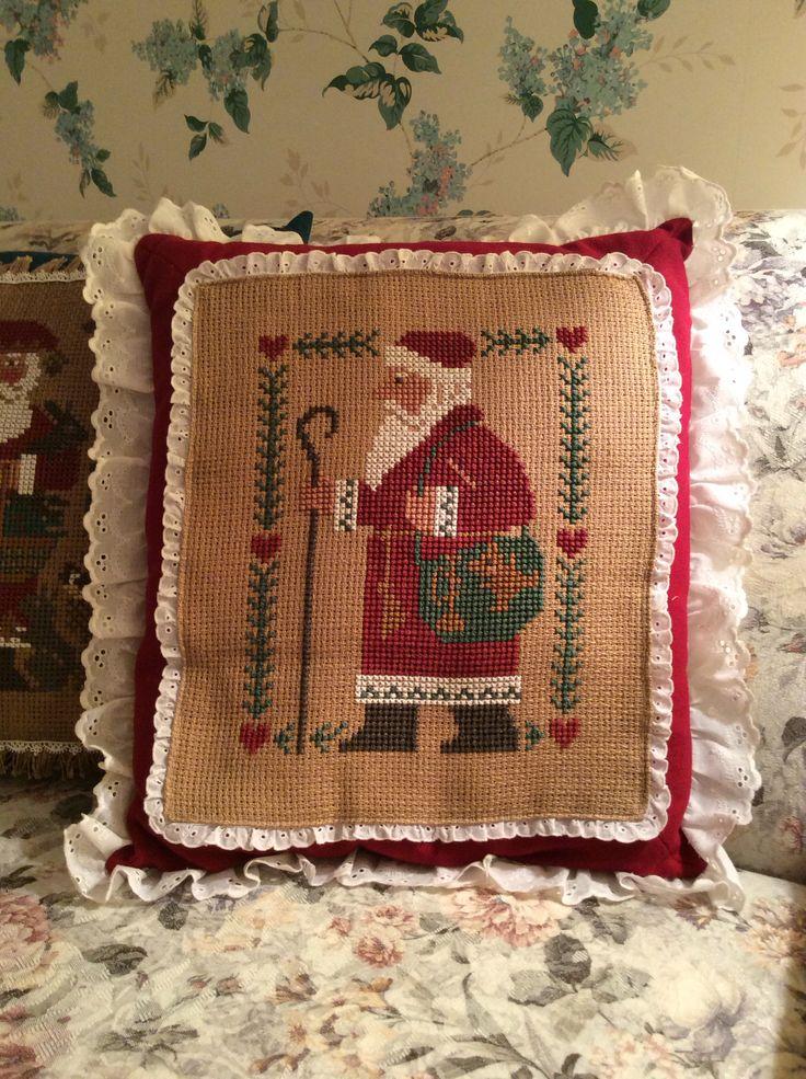 Needlepoint Christmas Pillows