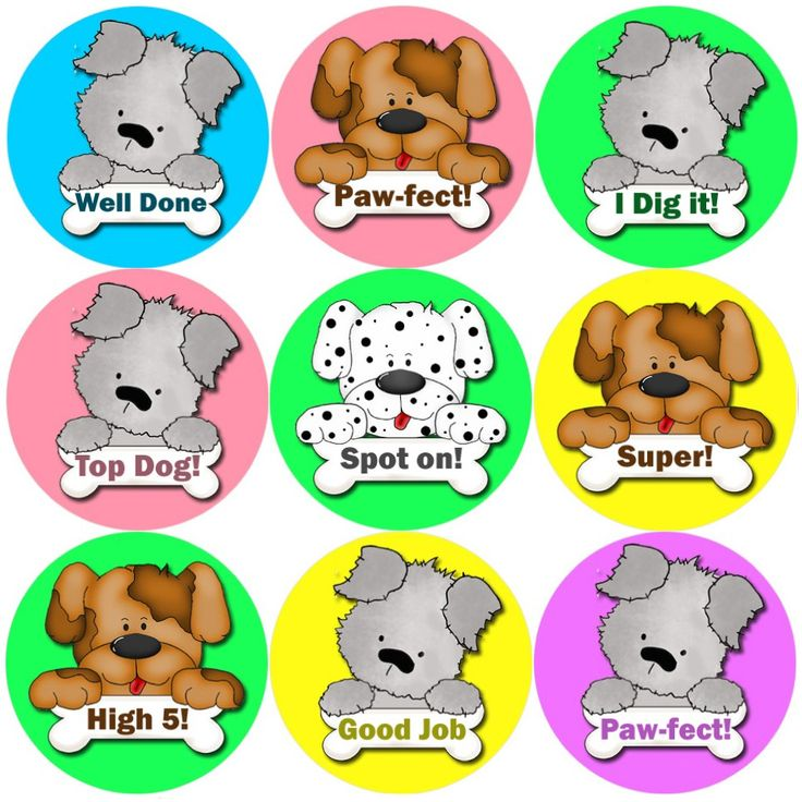 These Puppy Praisers reward stickers are perfect to make a big impression on young learners and can be used with any Reward System.