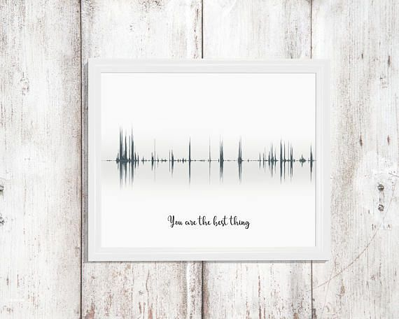 Personalised Anniversary Gifts Sound Wave Print Favourite