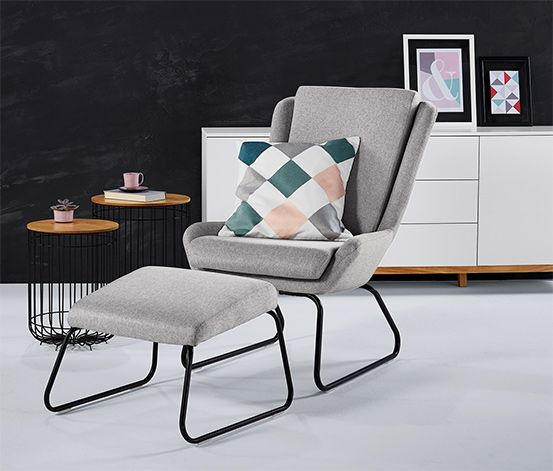 Die besten 25+ Sessel hocker Ideen auf Pinterest Ikea sessel - designer mobel aus metall bequeme sitzgruppe mit lederspolsterung