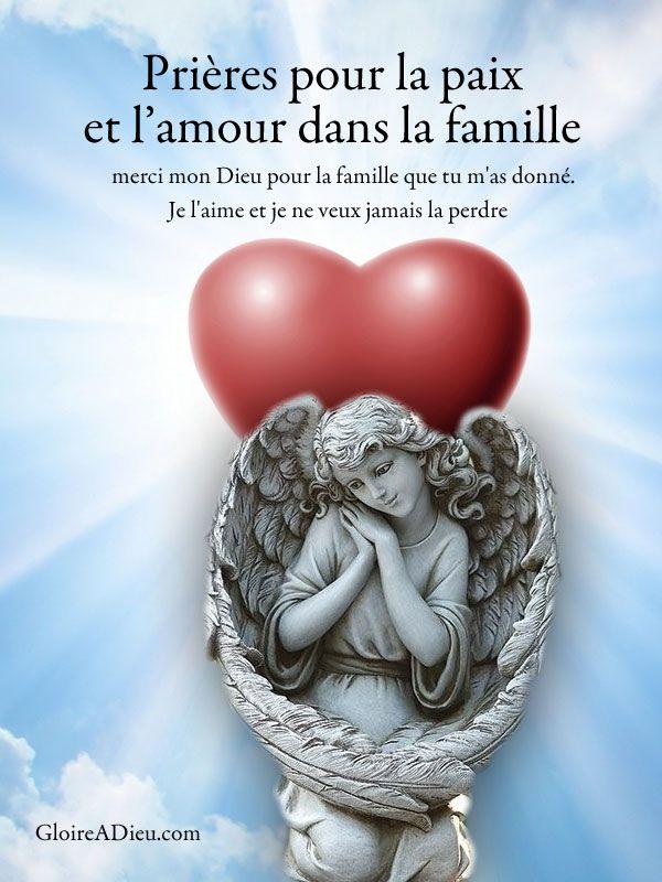 prieres pour la paix et l'amour dans la famille