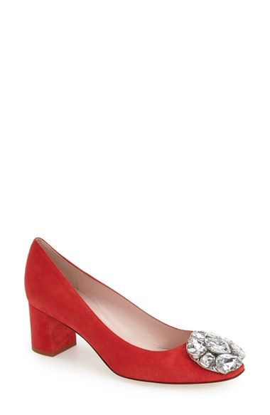 kate spade new york 'darcy' block heel pump (Women) available at #Nordstrom