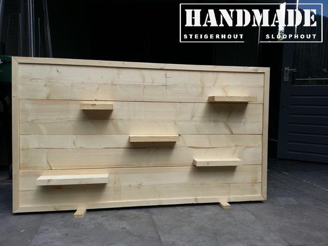 Wandbord Steigerhout onbewerkt 150x80 Handmade WJ