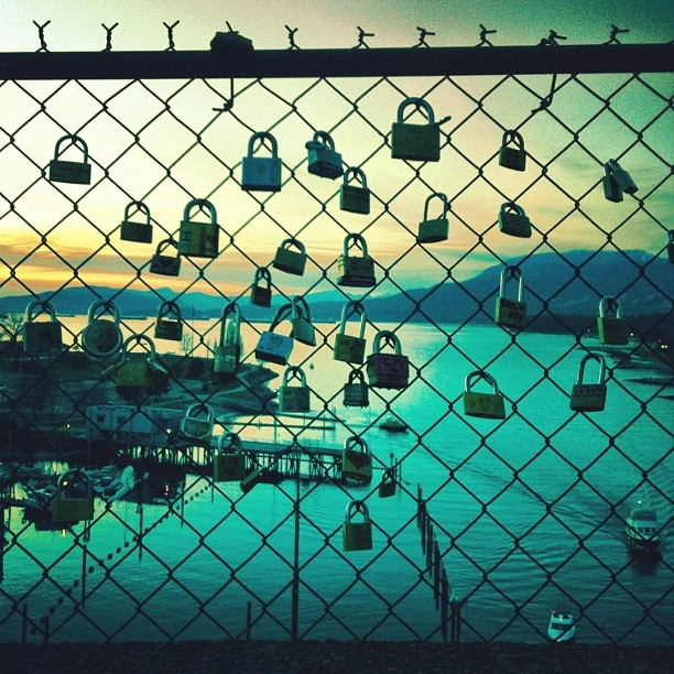 #vancouver #lovelocks #sunset