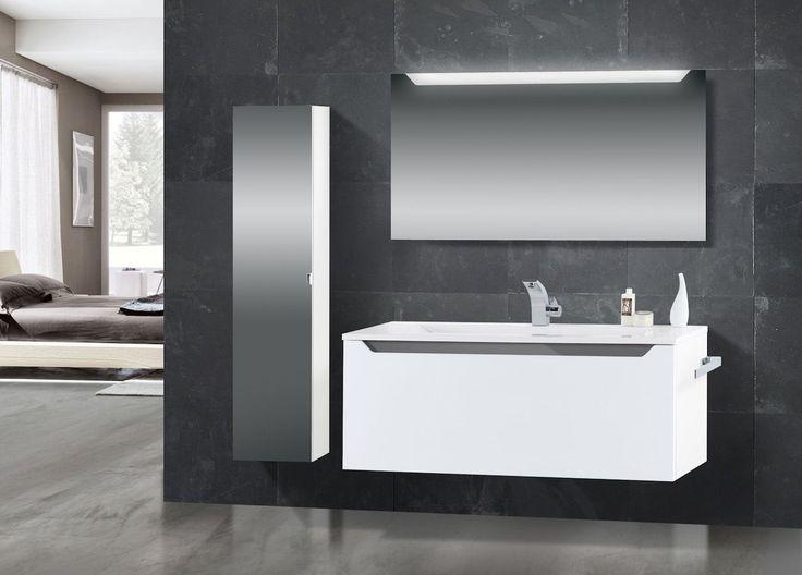 Design Badmöbel Set Mit Waschtisch 120 Cm, Grau Hochglanz Griffleiste Jetzt  Bestellen Unter: Https://moebel.ladendirekt.de/bad/badmoebel/badmoebel Sets/?uid  ...
