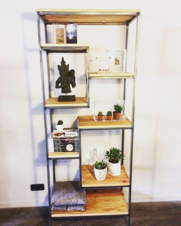 NIEUW!! Wandrek boekenkast pronkrek industrieel sloophout