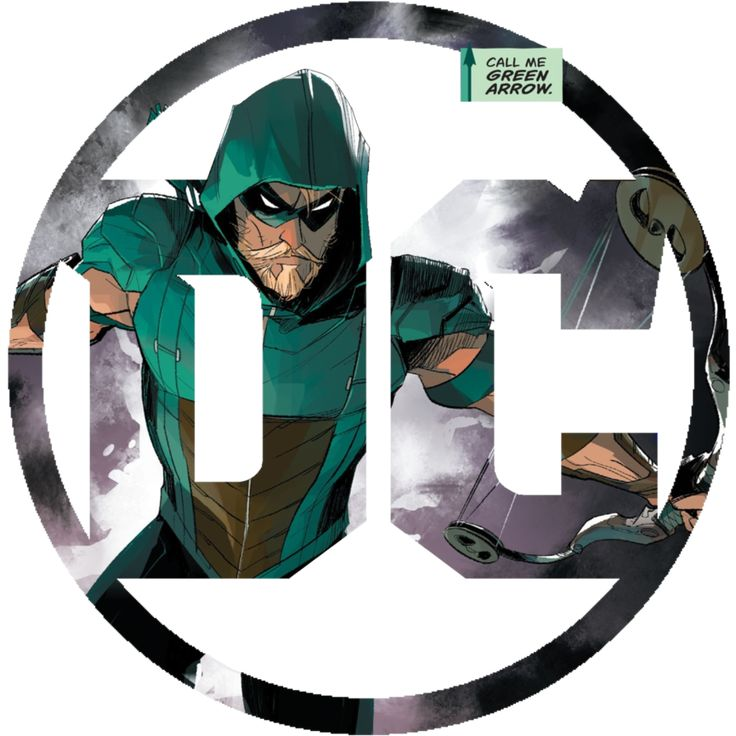 The New DC Logo released after Rebirth customized for Green Arrow's new series....