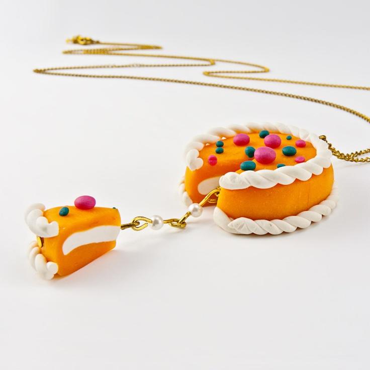 Orange Cake kolye!! www.bijumi.com!, 69 TL