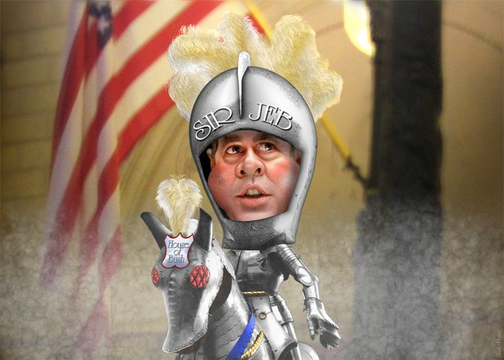 "https://flic.kr/p/bxzCJa | Jeb Bush - White Knight | <a href=""http://en.wikipedia.org/wiki/Jeb_Bush"" rel=""nofollow"">John Ellis Bush</a> aka Jeb Bush was the 43rd Governor of Florida.  The source image for this caricature of former Florida Governor Jeb Bush is a photo in the public domain <a href=""http://commons.wikimedia.org/wiki/File:Jeb_Bush.jpg"" rel=""nofollow"">available via Wikimedia</a>. The knight in armor is from a Creative Commons licensed photo from <a…"