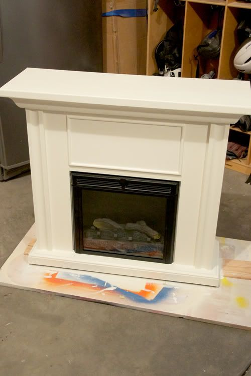 I have this same problem coming up with my own electric fireplace. This was done well.