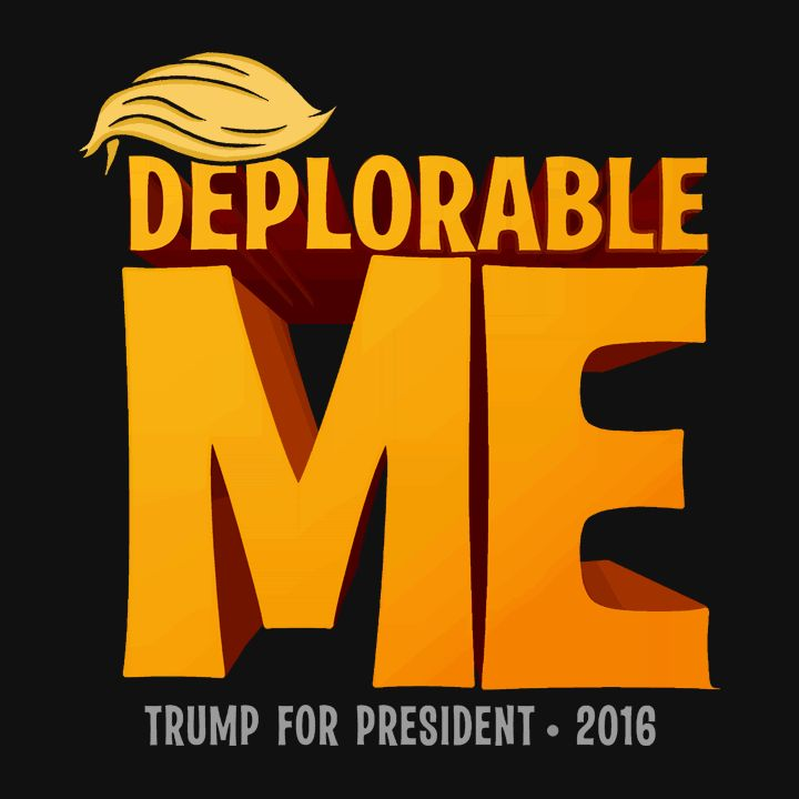 "This ""basket of deplorables"" Deplorable Me t-shirt is a unique and funny Donald Trump t-shirt for Pro-Trump supporters to wear for the 2016 presidential election. If you're Anti Hillary, and you're pr                                                                                                                                                                                 More"